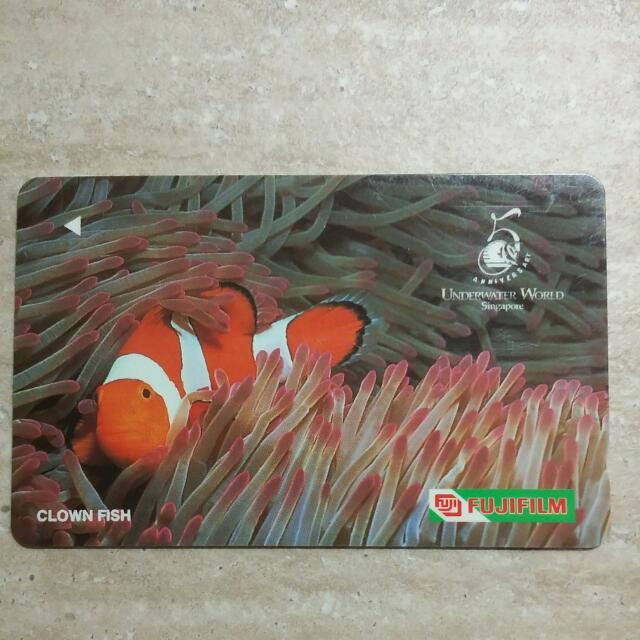 Underwater World Clown Fish Singapore Telecom Vintage Phonecard For  Collectors! Fujifilm Series