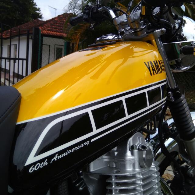 November 2016 Yamaha SR400 60th Anniversary Model