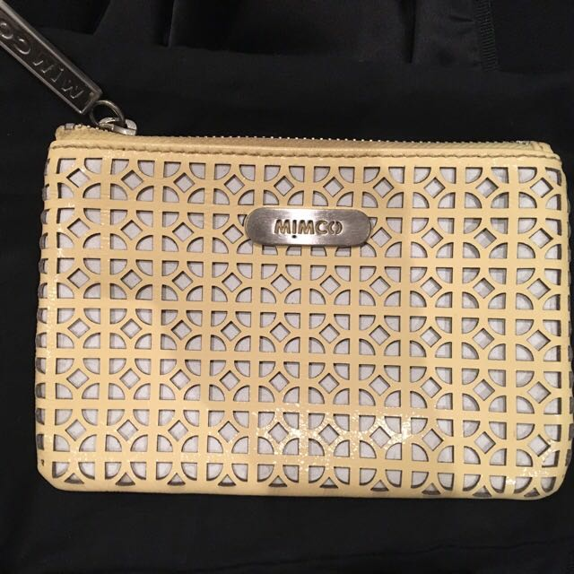 Yellow Mimco Pouch