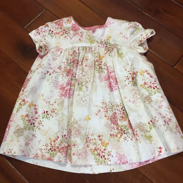 全新Zara Baby超氣質小碎花洋裝