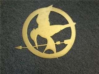 Metal Mockingjay Symbol