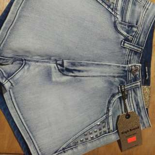 High Brand Size 5 High Wasted Denim Shorts