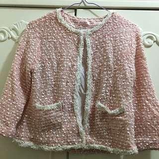 韓牌粉紅外套