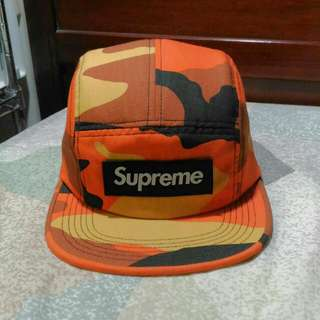 Supreme Ripstop Camo Camp Cap 五分割帽 黃迷彩/厚貼布