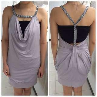 Sexy Grey Mini Dress