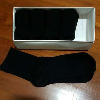 5 Pairs Of Black Socks