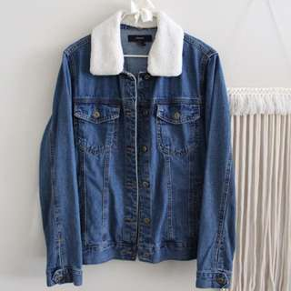 Denim Jacket Shearling Trim
