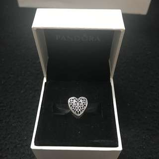 Genuine Pandora Heart Charm