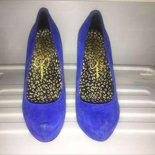 Jessica Simpson Blue Heels