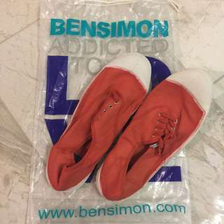 Bensimon Low-cut Lace Up Flats Women Size Eur-39