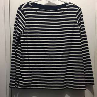 Reduced Price⁉️Uniqlo Navy Blue And White Striped Shirt
