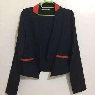Black With Orange Accent Suit