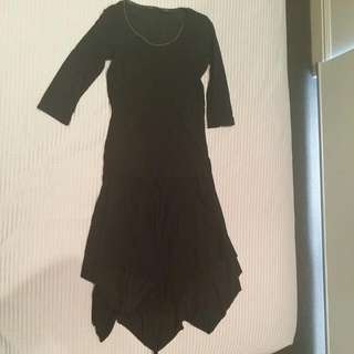 Marithe Francois Girbaud Black Dress Goth Indie Size 8