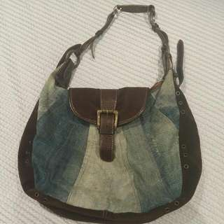 Roberto Cavalli Just Cavalli Denim Handbag Original