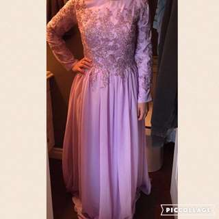 Long Sleeve A-Line Evening Gown