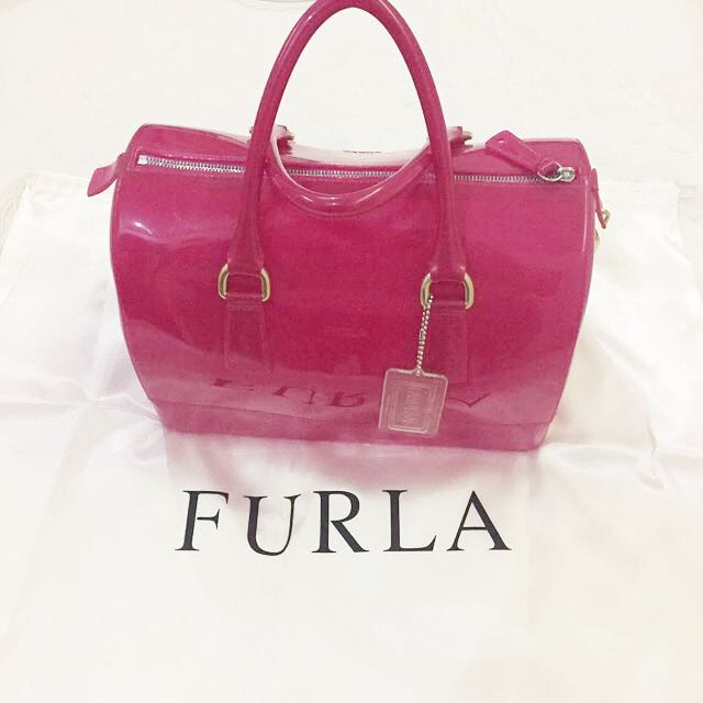100% Authentic Furla Candy Bag Pink/fuschia