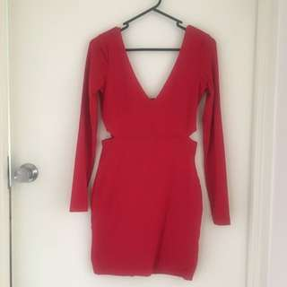 Red Kookai Bodycon Dress Size 1