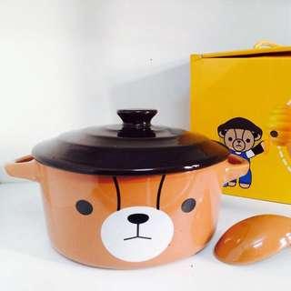 British Bear[英國熊]陶瓷蓋碗5.5吋(附湯匙)(750ml)