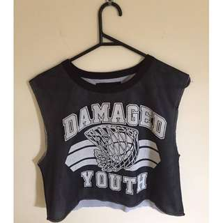 ST&ARD Damaged Youth Basketball Style Reversible Muscle Crop
