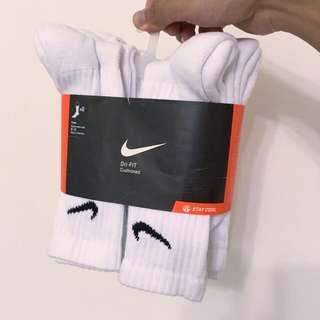 (完售)Nike Dri-Fit Cushioned 襪子 白襪 運動襪 純棉