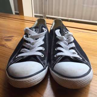 Low top Slim Black & White Converse