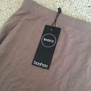 BOOHOO Basics Midi Skirt - Nude/beige