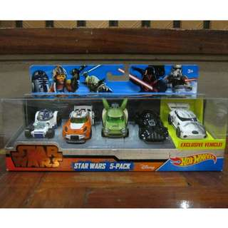 Hot Wheels Star Wars Character Cars, Pack of 5, 30%off