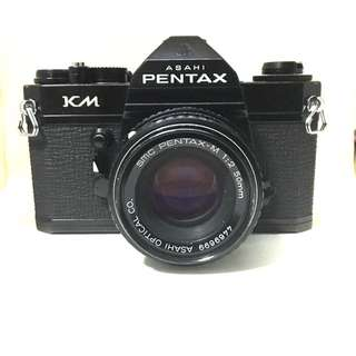 Black Pentax KM With 50mm F2 Lens (very Very Rare)