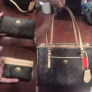 BNWT Authentic Coach Purse, Wallet, Card Holder