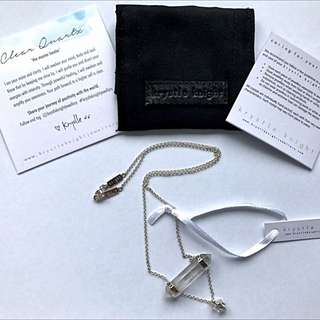 Brand new with tags, Krystle Knight White Light Crystal necklace.
