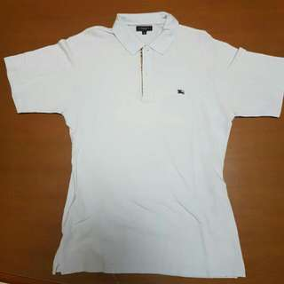 ORI AUTHENTIC WHITE BURBERRY POLO SIZE M