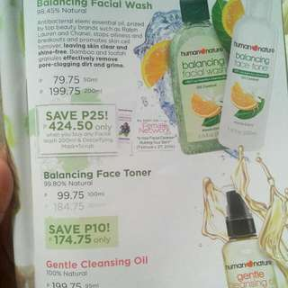 Facial Wash, Face Toner, Cleansing Oil By Human Nature