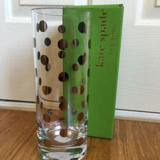 Kate Spade Cylinder Vase In Pearl Place Platinum