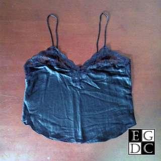Black Sexy Silk Top