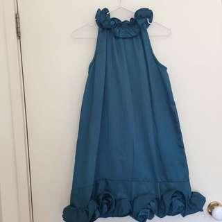 Turquoise Mini Dress