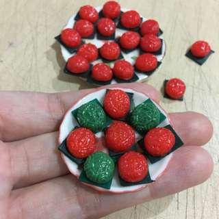 Handmade Miniature Local Kueh: Ang Ku Kueh