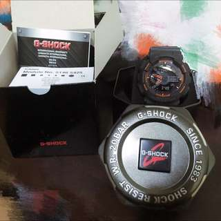 G-shock黑橘錶