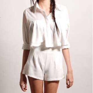 Theory of Seven Etel White 2-pc Playsuit