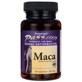 🚚 《健康讚》強力馬卡 500mg 60顆 Swanson MACA 每顆2000mg 四倍超濃縮萃取 男女皆可食用 瑪卡