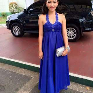 Pre-loved Royal Blue Evening Gown