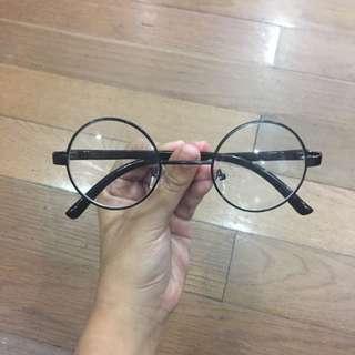 Kacamata Bulat Transparan