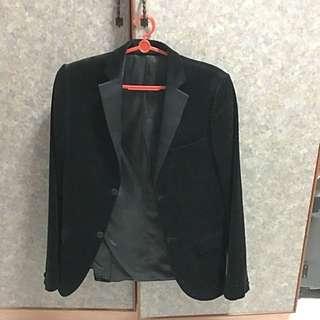 Topman Black Velvet Blazer