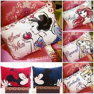 🚚 (現貨馬上出)迪士尼枕頭套❤️Aril枕套公主枕頭套水墨畫風迪士尼印花單人枕頭套經典卡通美人魚公主長髮公主白雪公主