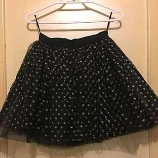 Nasty Gal Black w Gold Polka Dot Skirt.
