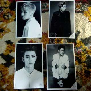EXO Sehun And Xiumin Authentic Postcards