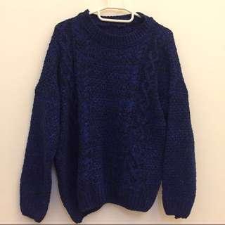 (保留)《近全新》韓國🇰🇷針織毛衣