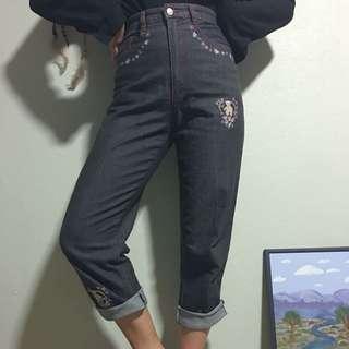 Embroidered Vintage Jeans