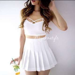 One Set Crop Top And Skirt