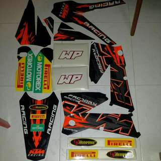 KTM SX BLACK EDITION GRAPHICS KIT