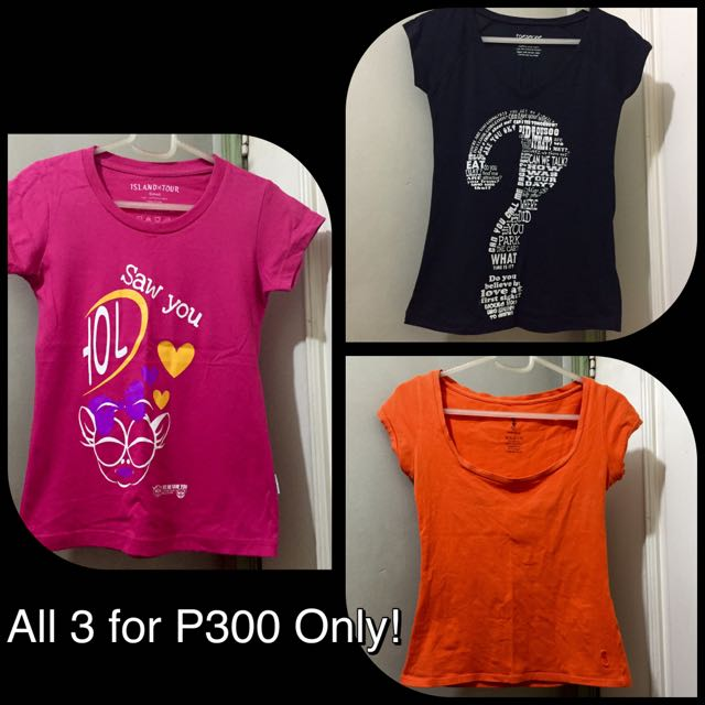 3 Shirts for Php 300 Only!